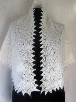 Ажурная белая косынка (P-1706)