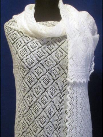 Ажурная белая пуховая паутинка (Ф-1494)