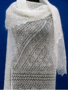 Ажурная пуховая паутинка (арт. P-1452)